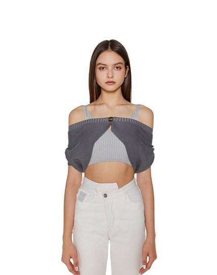 Off-the Shoulder  Knit Top