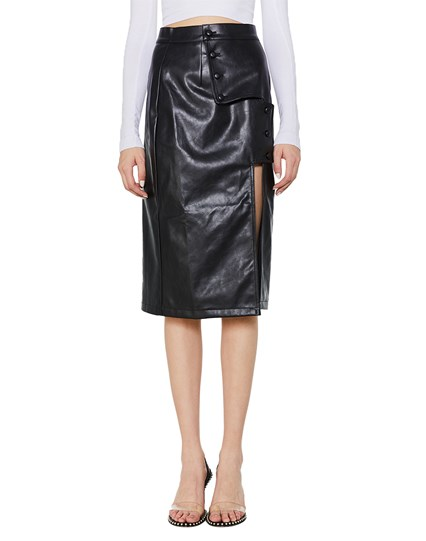 Forosa Leather Skirt