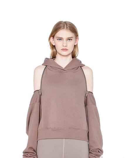 zip back hoodie