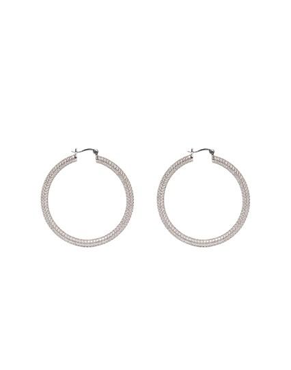 Lazy Circle Hoop Earrings
