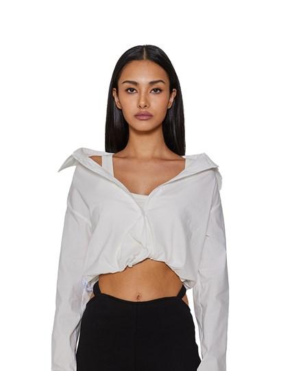 White-off Shoulder Shirt
